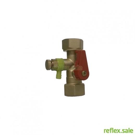 Cоединение быстроразборное Reflex SU R 3/4 с автоматическим запорным клапаном и сливом арт. 7613000